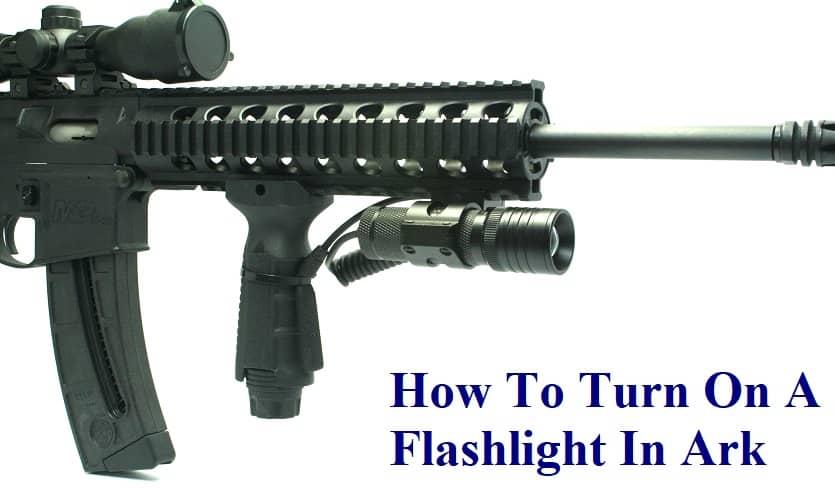 how to turn on flashlight ark