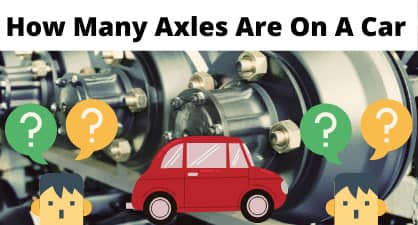how many axles are on a car
